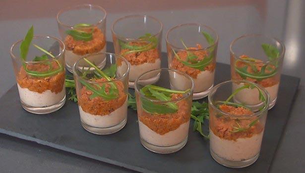 Recette verrine entr e facile recettes de verrines en vid o for Entree originale facile